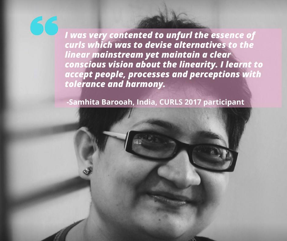 Samhita Barooah, India, CURLS 2017 participant